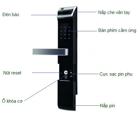 khóa cửa điện tử, khóa điện tử, khóa vân tay, khóa cửa vân tay, khóa điện tử yale ydm 4109